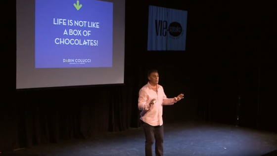 Motivational Speaker, Darin Colucci talkes at VIE Speaks in Seaside Florida